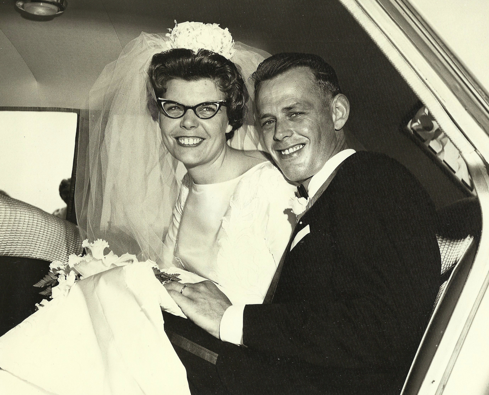 Grandma and Grandpa on their wedding day. They were together for 52.5 years.