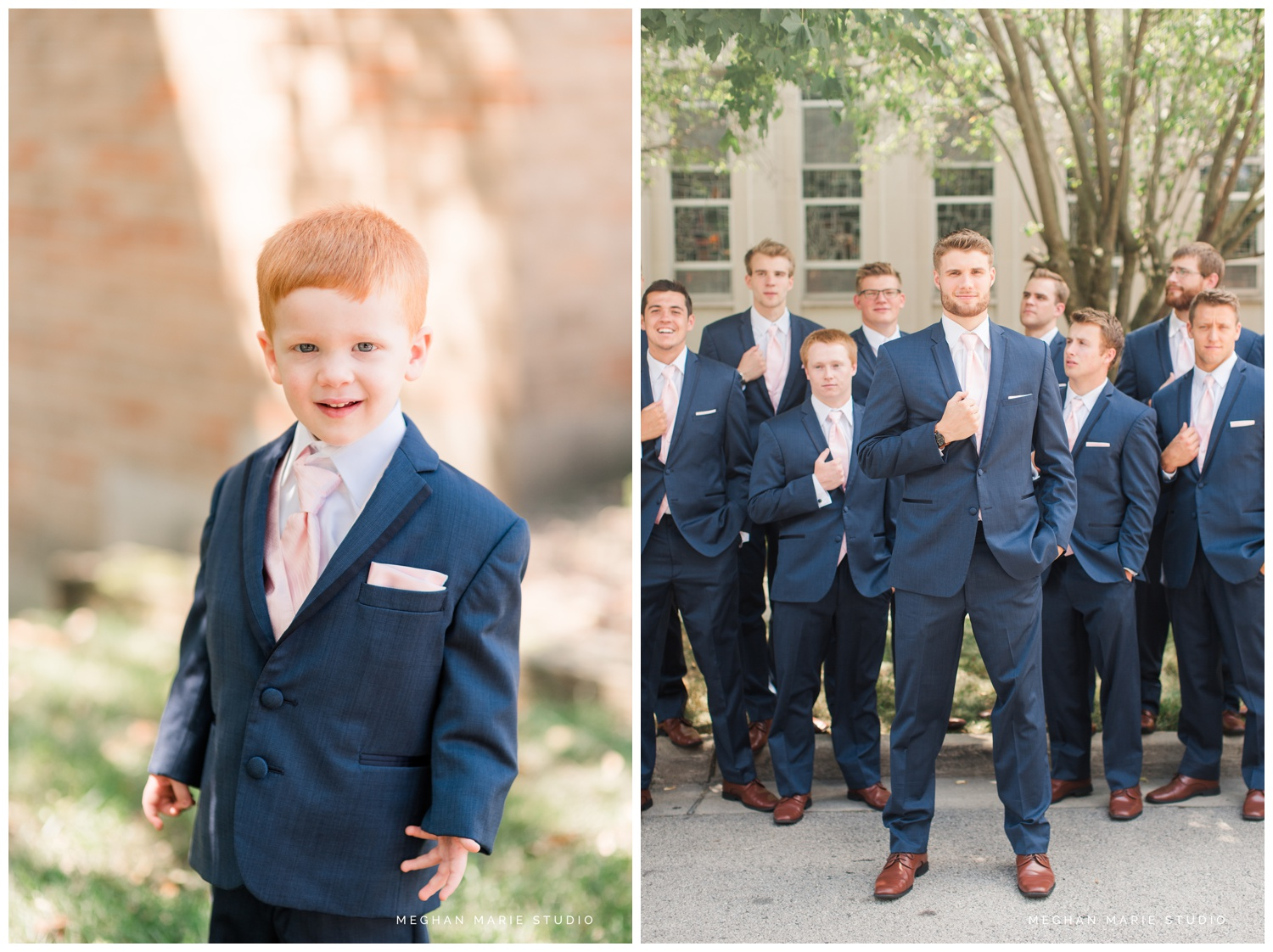 meghan marie studio ohio wedding kyle ahrens msu michigan state basketball spartans navy blush rustic barn soft warm bright bubbles catholic church_0367.jpg