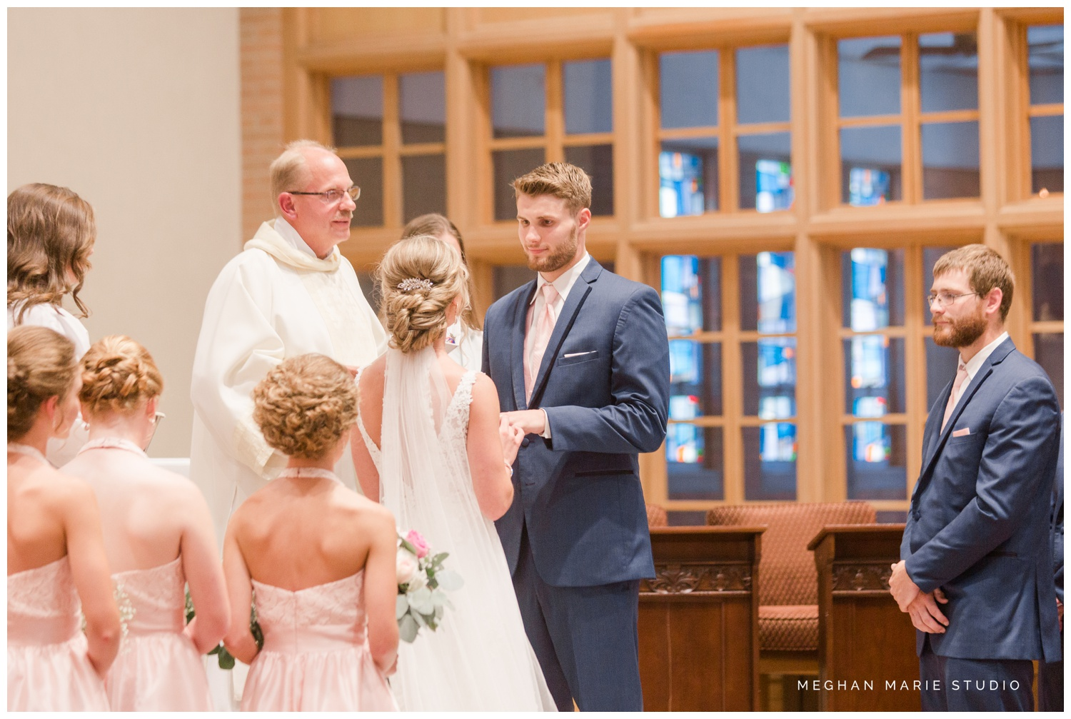 meghan marie studio ohio wedding kyle ahrens msu michigan state basketball spartans navy blush rustic barn soft warm bright bubbles catholic church_0377.jpg