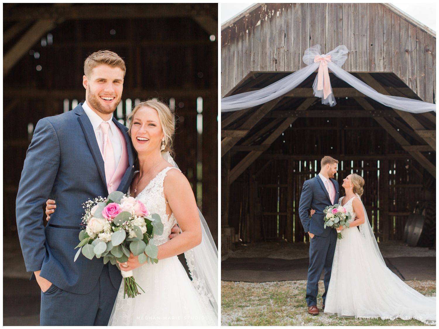 meghan marie studio ohio wedding kyle ahrens msu michigan state basketball spartans navy blush rustic barn soft warm bright bubbles catholic church_0384.jpg