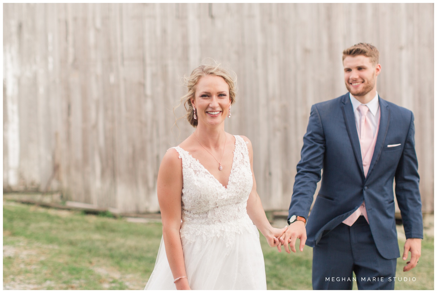 meghan marie studio ohio wedding kyle ahrens msu michigan state basketball spartans navy blush rustic barn soft warm bright bubbles catholic church_0386.jpg