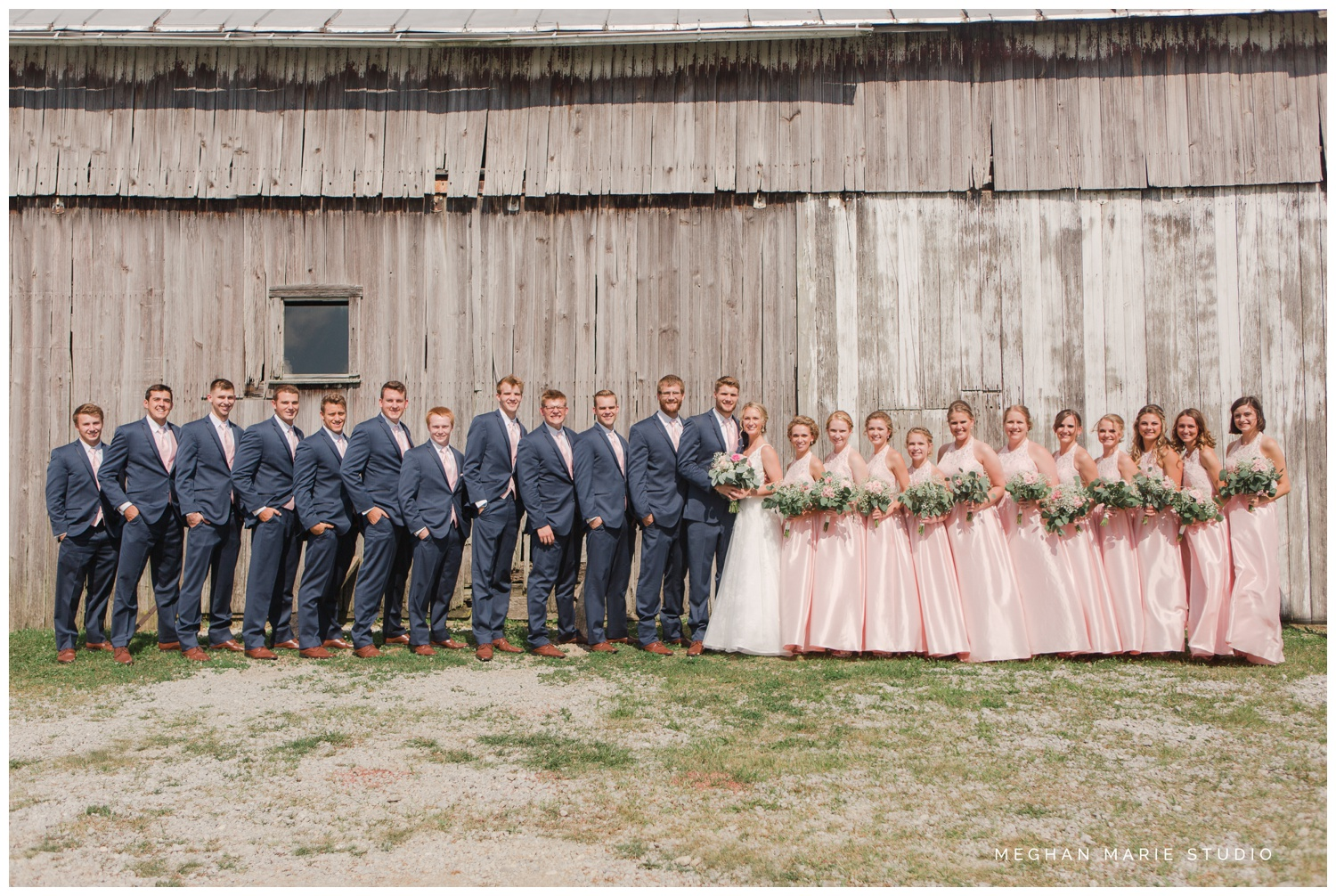 meghan marie studio ohio wedding kyle ahrens msu michigan state basketball spartans navy blush rustic barn soft warm bright bubbles catholic church_0387A.jpg