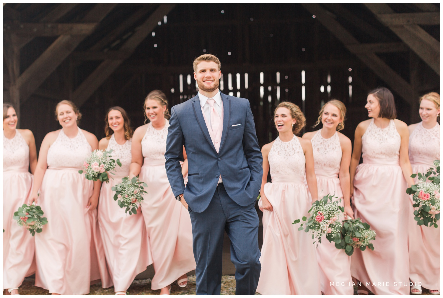 meghan marie studio ohio wedding kyle ahrens msu michigan state basketball spartans navy blush rustic barn soft warm bright bubbles catholic church_0387B.jpg