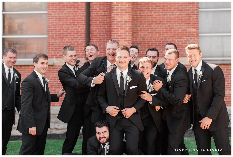 meghan marie studio wedding photographer ohio troy dayton columbus fort loramie st michael hall demange ken midmark elegant black suits metallics hollywood soft glam family wedding_0523.jpg