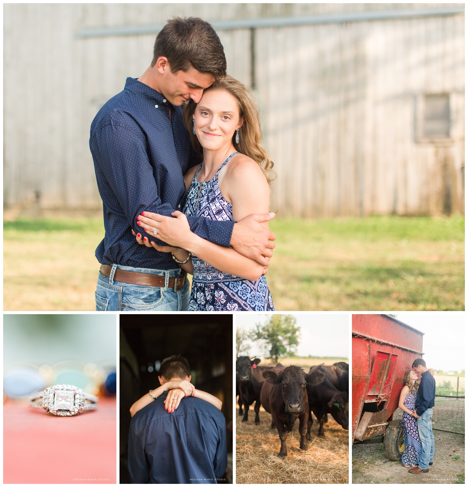 meghan marie studio wedding photographer ohio troy dayton columbus small town rustic rural farm cows russia shelby county barns antique vintage engagement lauren heaton_0548.jpg