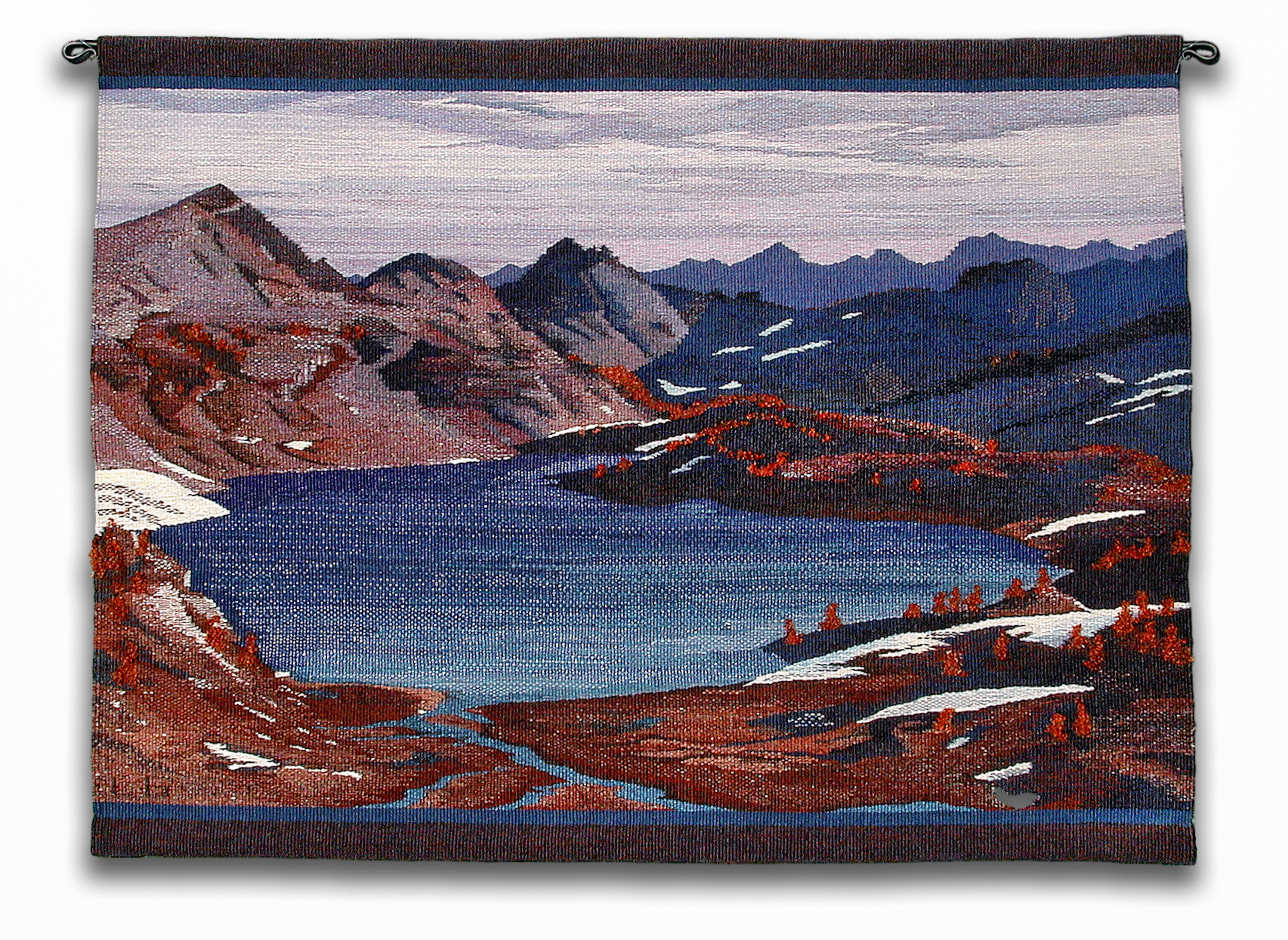 """Upper Ice Lake, 38"""" X 29"""" This was commissioned to celebrate a new company, Ice Lakes Fruit."""