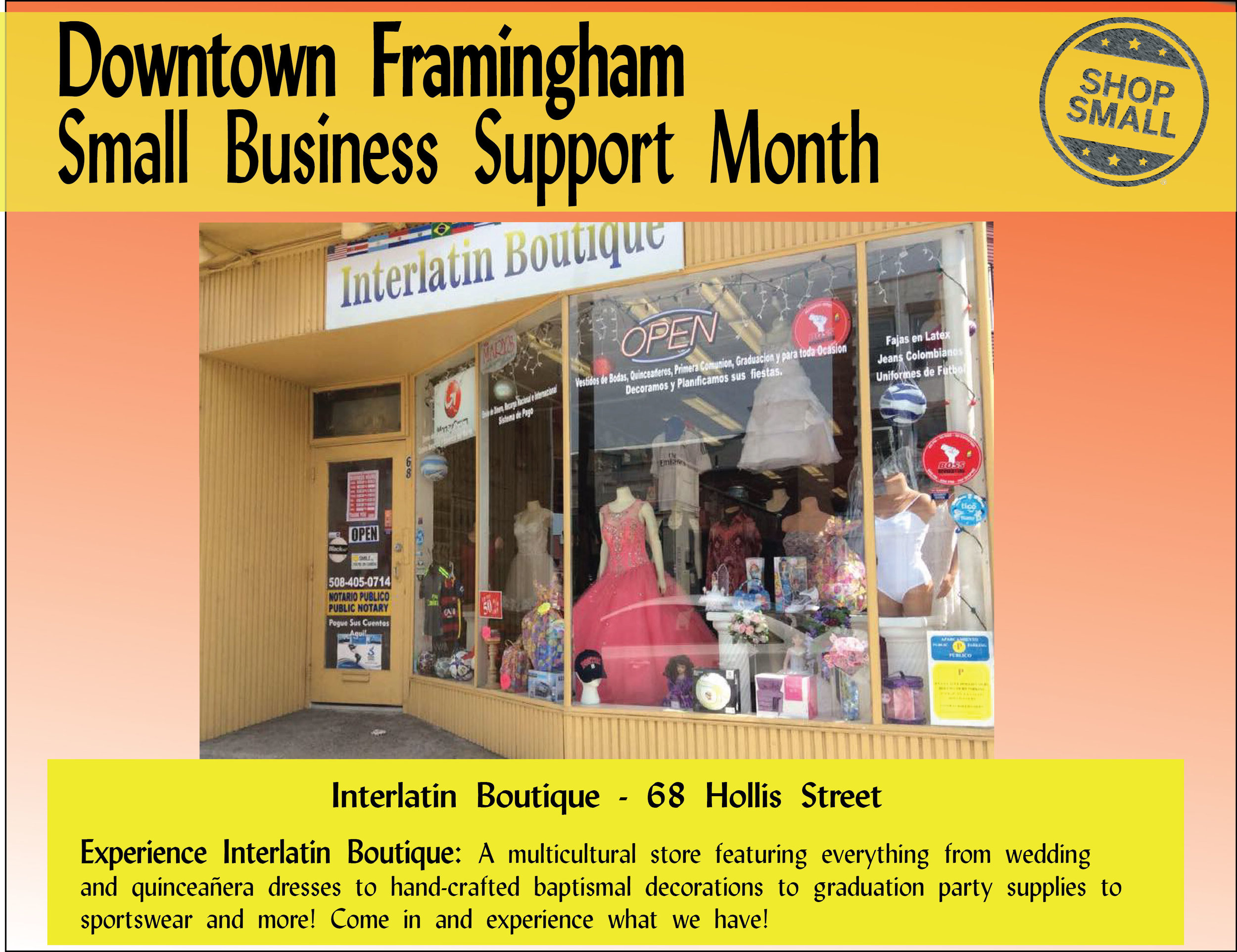 """It's Day 3 of Small Business Support Month! Reason #3:  """"Small businesses develop partnerships and strengthen ties with people in the neighborhood. Brick and mortar establishments serve as community hubs!"""" This is so apparent downtown!"""