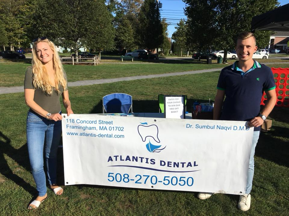 Atlantis Dental - Oral hygiene is important during all months, especially the holiday season. Stop by to visit this hard-working team that proudly represents downtown Framingham. Care kits will be available for everyone!> Pair it with Nectarine Berliner Weisse
