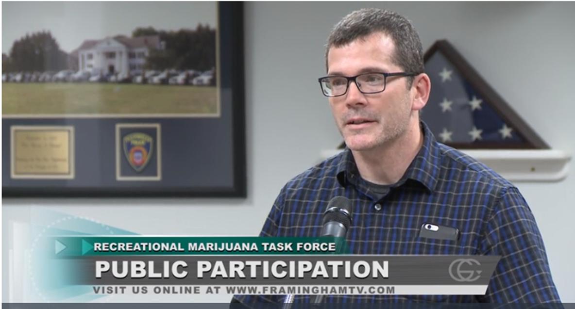 Richard Sanger address the Marijuana Task Force