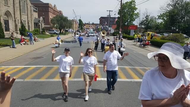 Spreading good cheer at Framingham's Flag Day Parade