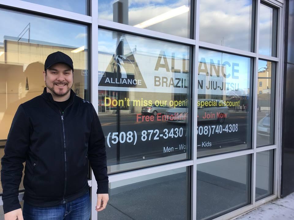 Samuel Almeida was thrilled to open Alliance Brazilian Jiu-Jitsu in March 2018 at 16 Concord Street