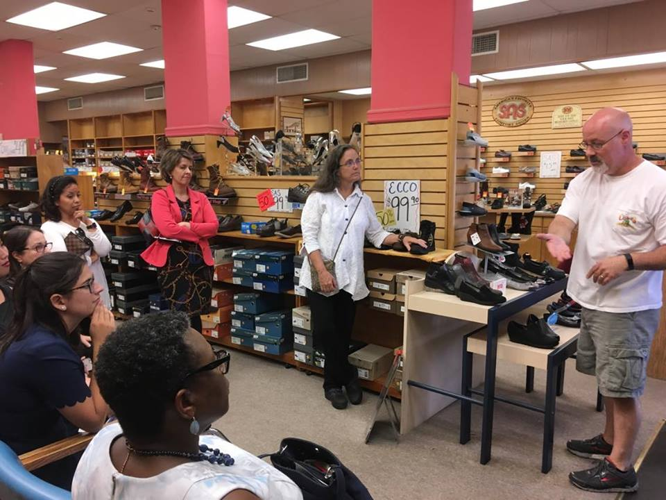 Panza Shoes participated in the 2017 Boutique Blitz and Cultural Tour hosted by Downtown Framingham, Inc.