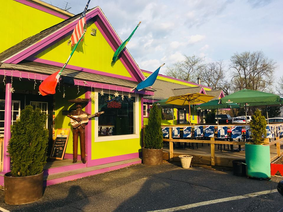 358 Waverly Street   - on-site parking lot  Authentic Mexican fare in a vibrant setting close to the MBTA Commuter Rail. Karaoke every Wednesday and Friday.