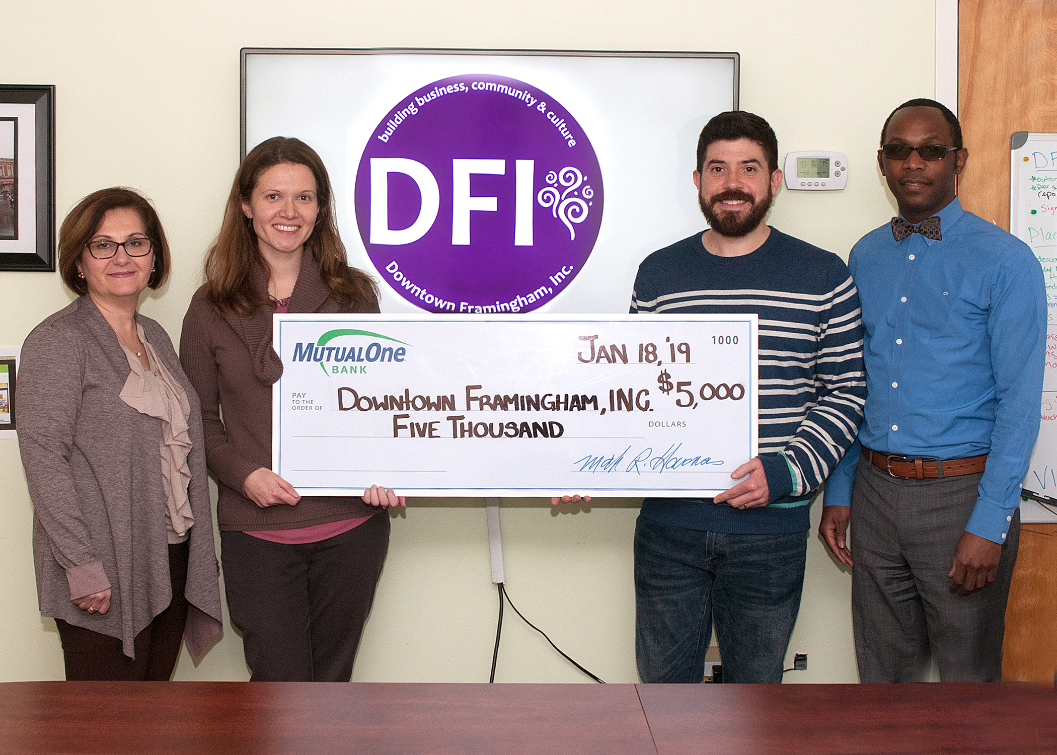 DFI's Business Development Manager, Robert Mitchell, second from right