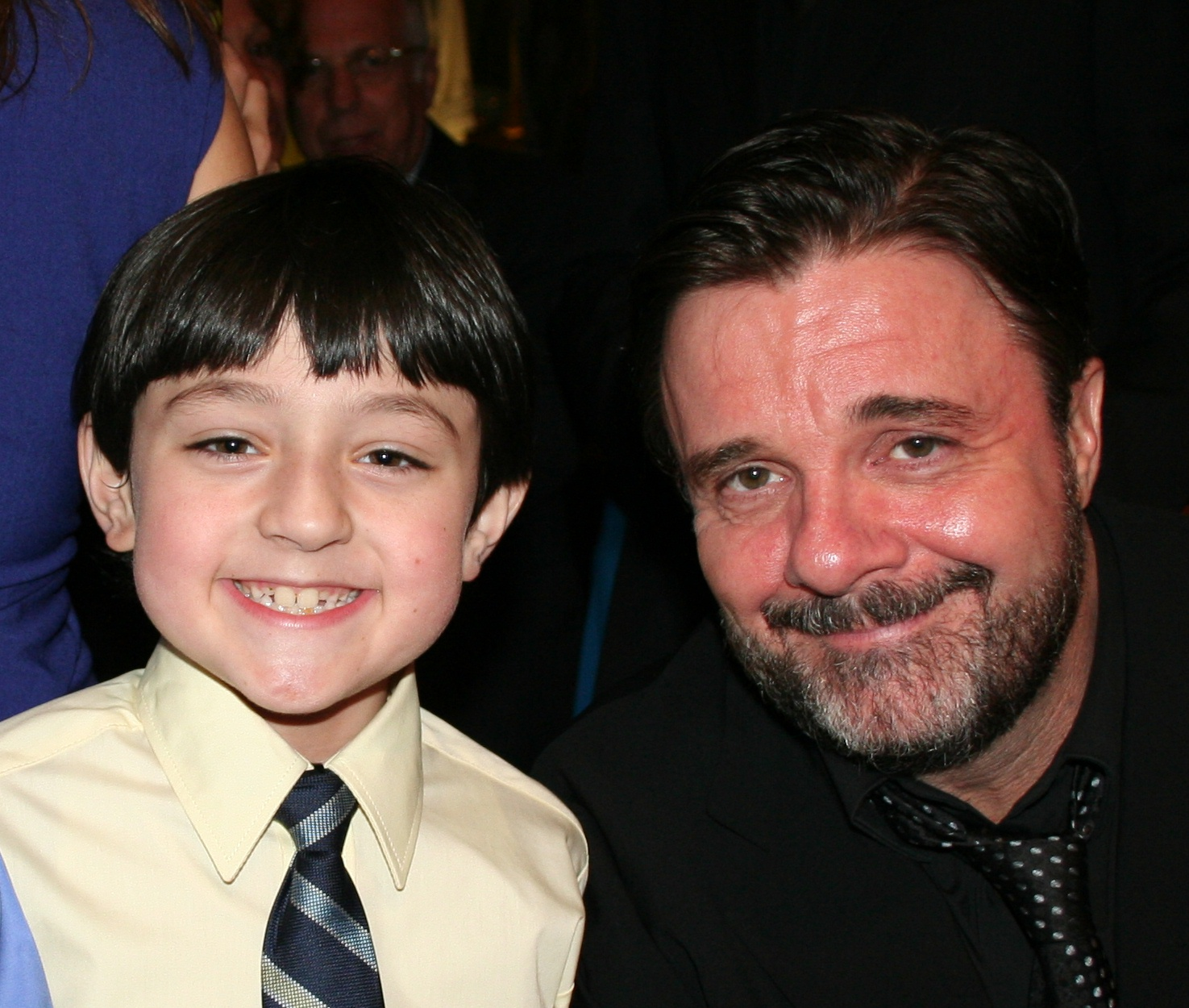 Student, Cameron Clifford with Nathan Lane, opening night of Waiting for Godot, NYC April 30, 2009 at Studio 54! Cameron played 'The Boy' opposite Mr. Lane, Bill Irwin. John Goodman and John Glover