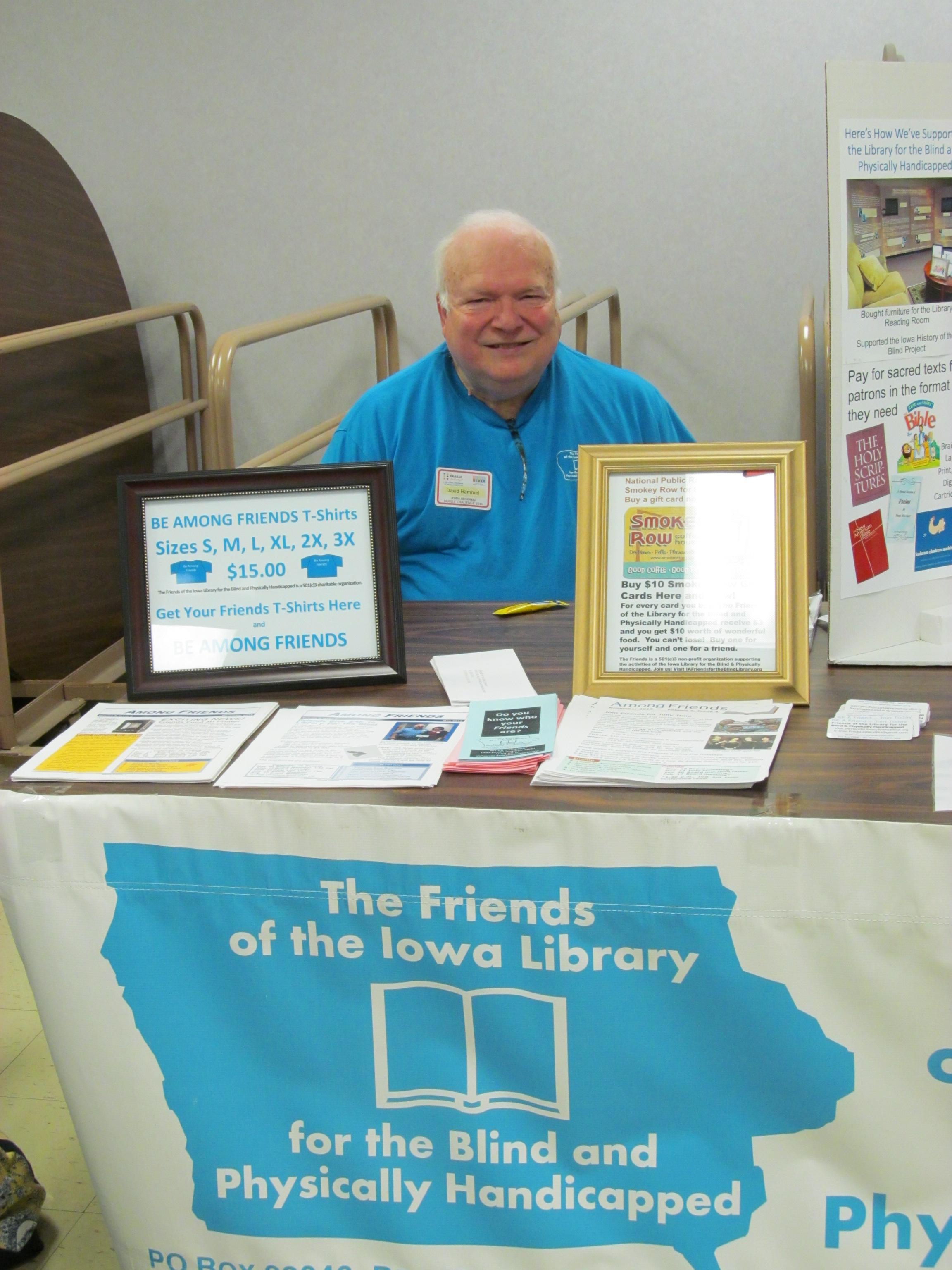 Dave Hammel at Braille Challenge