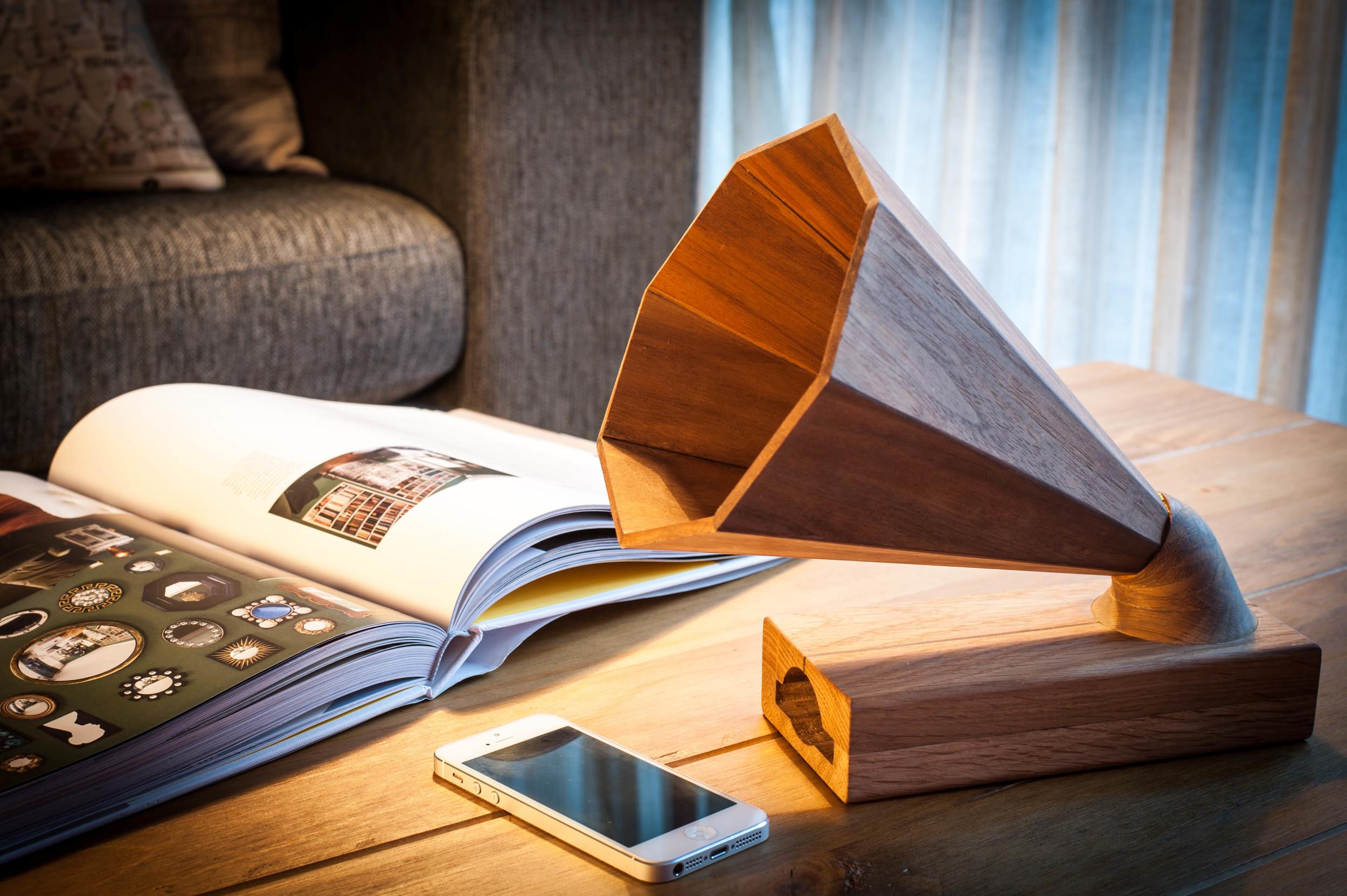 Preorder Wooden iPhone Amplifier Here