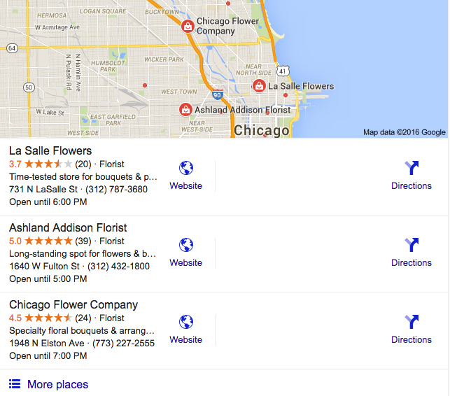 Google Local Stack Search Engine Results for Ashland Addison