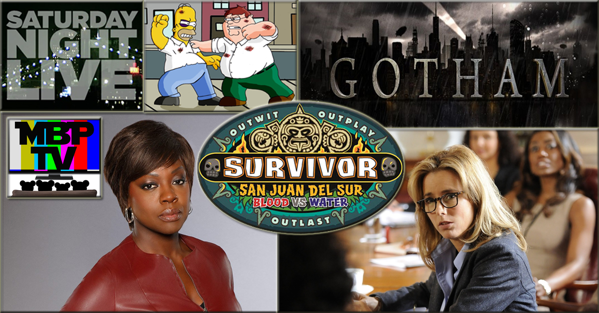 MBP TV e25 - Gotham Murder Survivor (9/30/14)    Summer re-runs are over and MBP TV is back with some fall premiere reviews! This week the bears break down the series premieres of 'Gotham' and 'How to Get Away With Murder' and discuss the season premiere of 'SURVIVOR.' Click through to view!