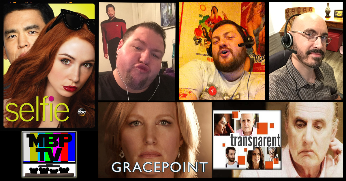 MBP TV e26 - 'Selfie,' 'Gracepoint,' and 'Transparent'    This week on MBP TV, the bears dish on the premieres of 'Selfie' and 'Gracepoint' and review two episodes of 'Transparent.' Should you be watching these shows? Tune in to find out! Click through to view.