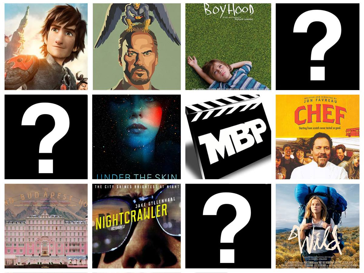 MBP e113 - Top 10 Movies of 2014 (01/22/15)    We've finally compiled our lists and are ready to share them with you! On this episode of the Movie Bears Podcast, we countdown our Top 10 Films of 2014! We also discuss some honorable mentions and share our weekly plugs. Click through to view!