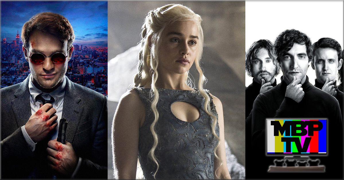 MBP TV e37 - Game of Thrones, Daredevil, and Silicon Valley (4/17/15)    On this week's MBP TV, the bears review the premiere episodes of 'Game of Thrones,' 'Daredevil,' and 'Silicon Valley.' Click through to view!