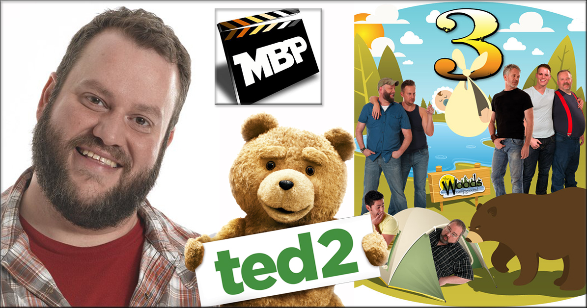 MBP e136 - 'BearCity 3' and 'Ted 2' (7/1/15)    This week Doug Langway -- writer/director of the BearCity films -- joins the guys to discuss the freshly announced 'BearCity 3' and how YOU can get involved in making the film happen! The guys also review 'Ted 2,' the follow up to Seth McFarlane's 'Ted.' Click through to view!