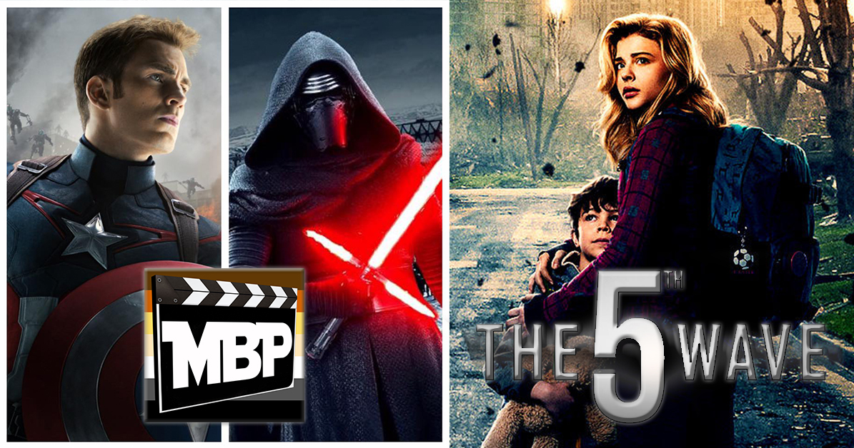 MBP e166 - 'The 5th Wave' (1/28/16)    This week we review 'The 5th Wave,' starring Chloe Grace Moretz and Liev Schreiber. We also reveal the results of our Captain America vs. Kylo Ren listener poll! Click through to listen!