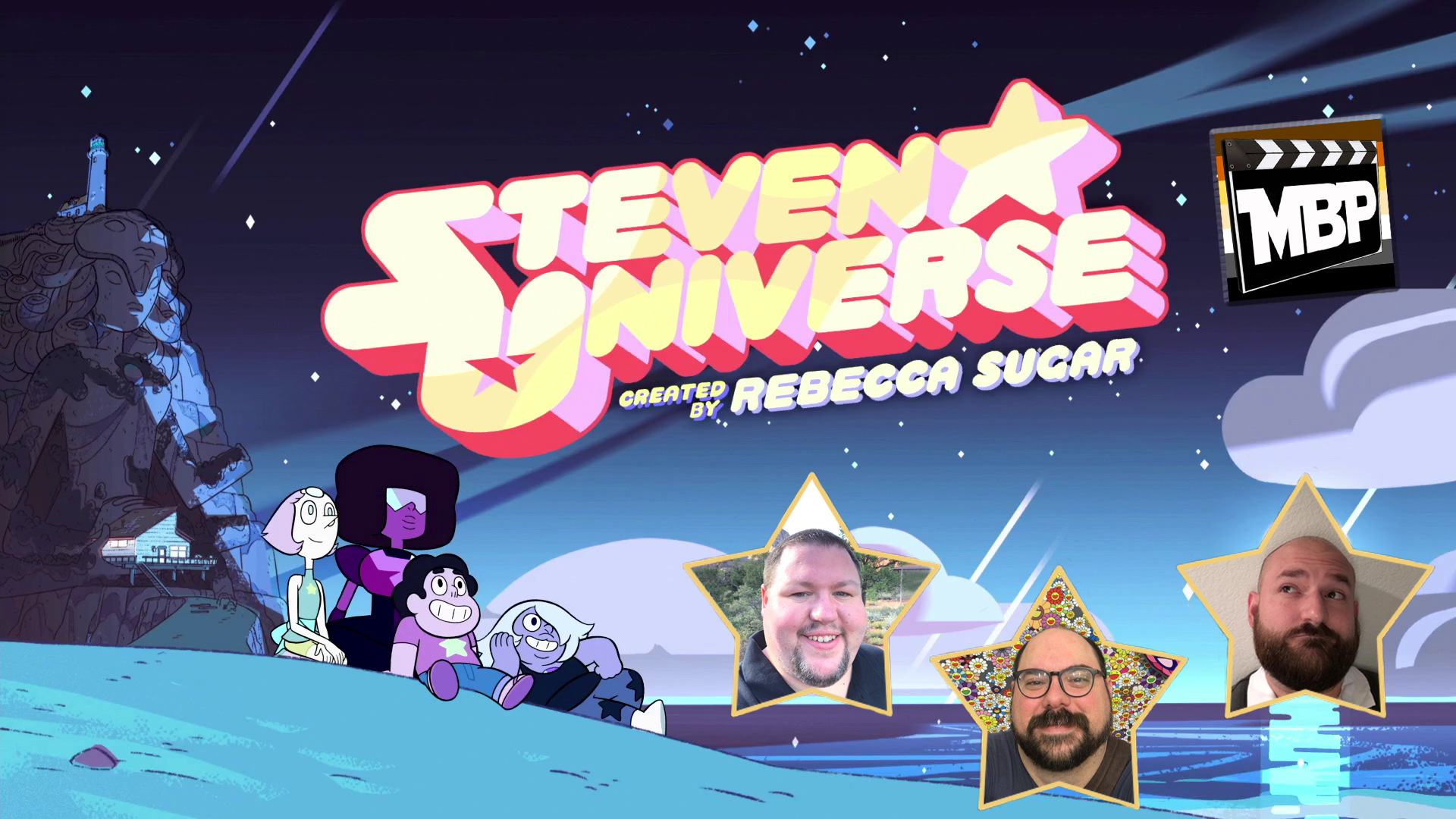 MBP e243 - 'Steven Universe' Special (7/21/17)    It started as a joke. In a previous episode, we teased the idea of doing a one-off 'Steven Universe' special. That little joke turned into a flood of feedback from listeners demanding that we make this a reality. So join us in this special episode of the Movie Bears Podcast where we talk about one of our favorite shows, Steven Universe. In addition to gushing about the show and its themes, we've hand-picked 8 of our favorite episodes to talk about. Click through to listen!