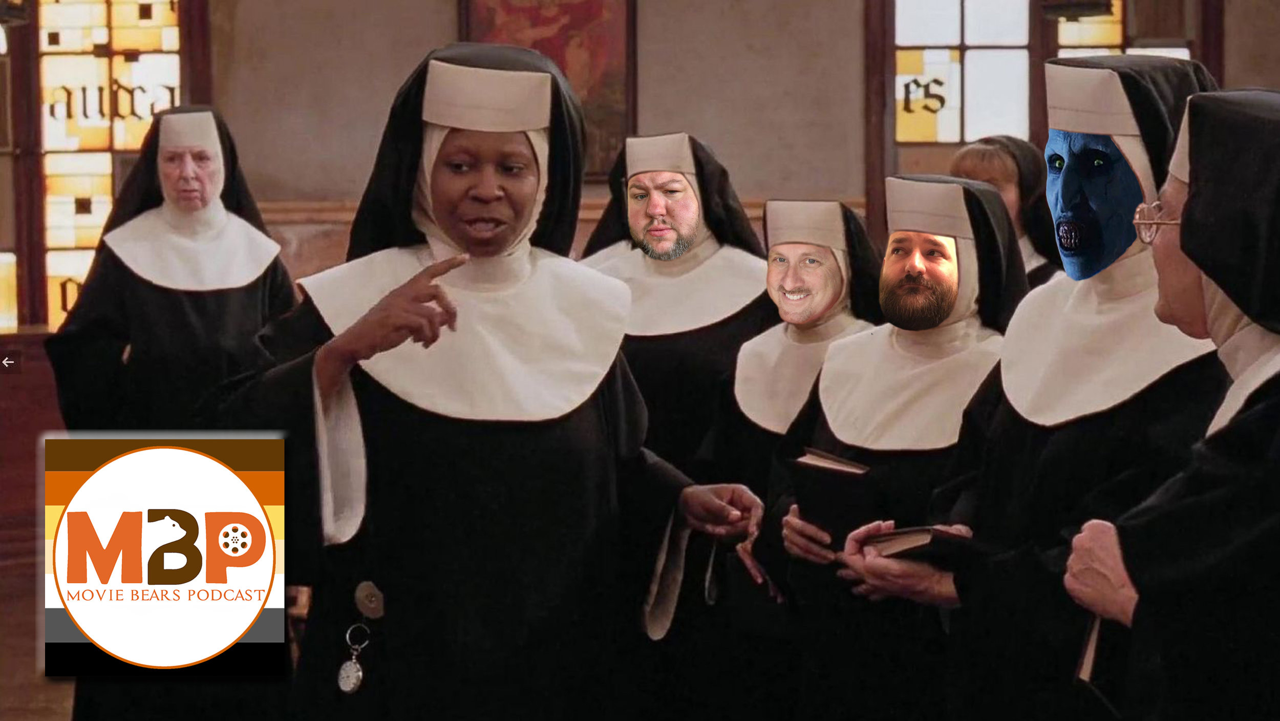 """MBP e294 - 'The Nun' and 'Sister Act' (9/11/18)    We've got a strange, but fitting double feature on deck for this week's episode. We review the latest creepy addition to 'The Conjuring' cinematic universe - 'The Nun'- before diving into a retrospective on Whoopi Goldberg's 'Sister Act.' That's right, it's our """"BAD HABITS"""" episode. So, say your prayers and throw in a few 'Hail Mary's' while you listen in!"""