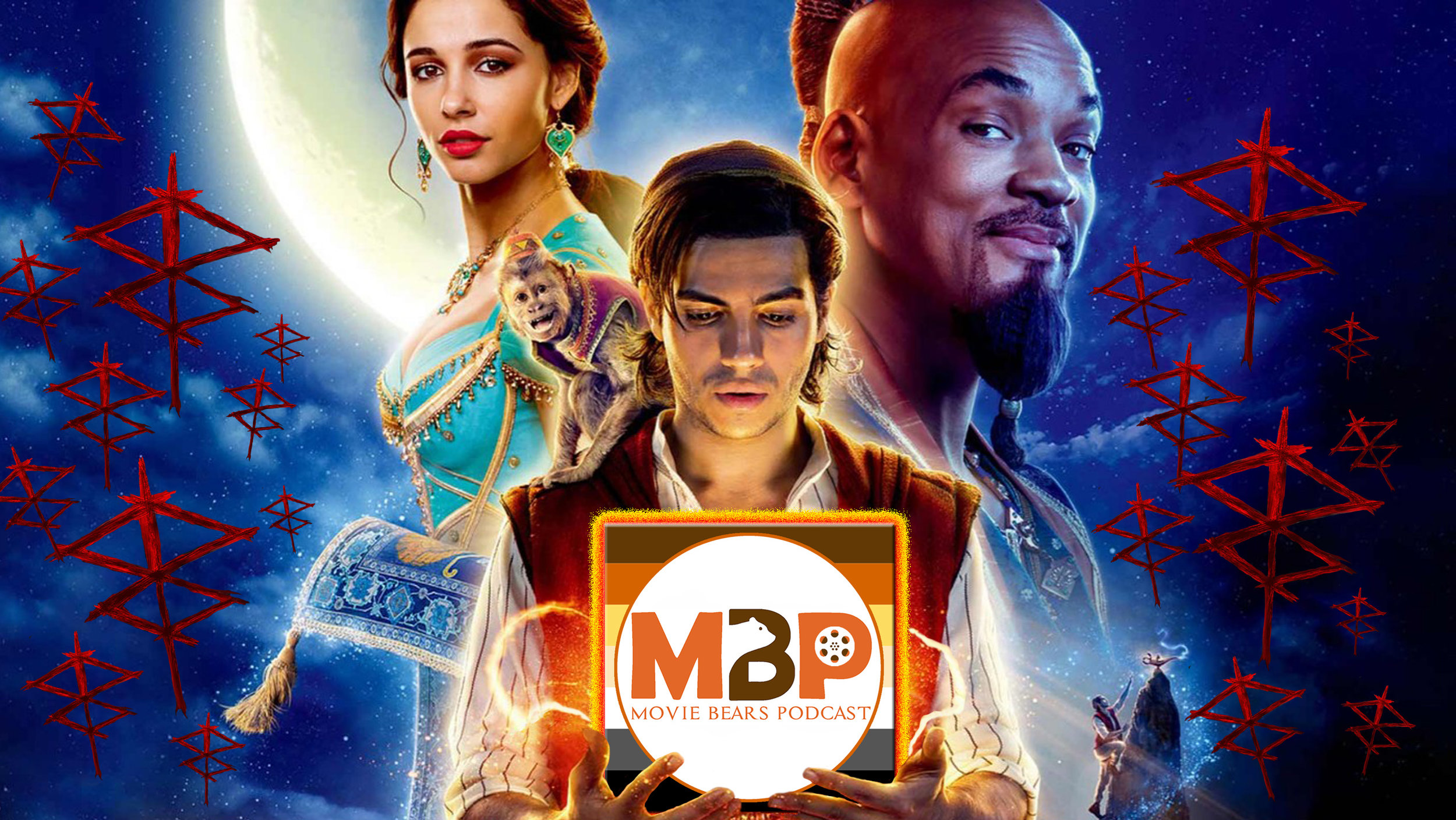 MBP e325 - 'Aladdin' and 'Brightburn' (5/28/19)    On this episode of MBP we're exploring a whole new world of films with TWO live reviews! First, we're talking about Disney's 'Aladdin,' the remake of Disney's 'Aladdin.' Then, we check out 'Brightburn,' a new kind of horror film that asks the question 'What if Superman, but evil?' Lots to talk about, so listen in to hear what these bears have to say!
