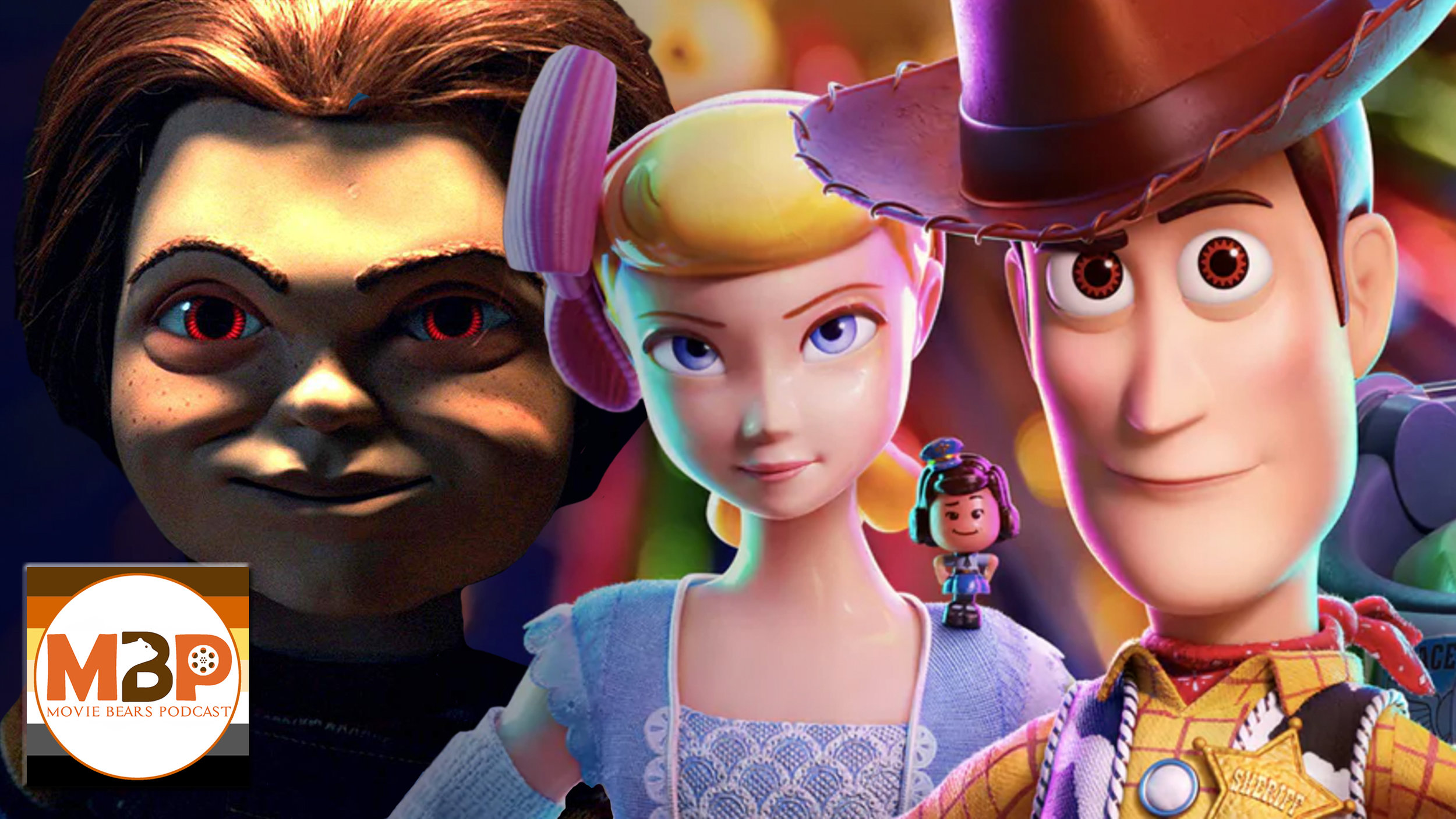 MBP e328 - 'Toy Story 4' and 'Child's Play' (6/25/19)    It's a toy-filled episode of the Movie Bears Podcast! (And, no, not like that!) On this episode, we review & discuss Pixar's TOY STORY 4 and the murderous reboot of CHILD'S PLAY. Did these fill us with child-like glee? Or should we stuff these back in the toy chest? Give us a listen to find out!