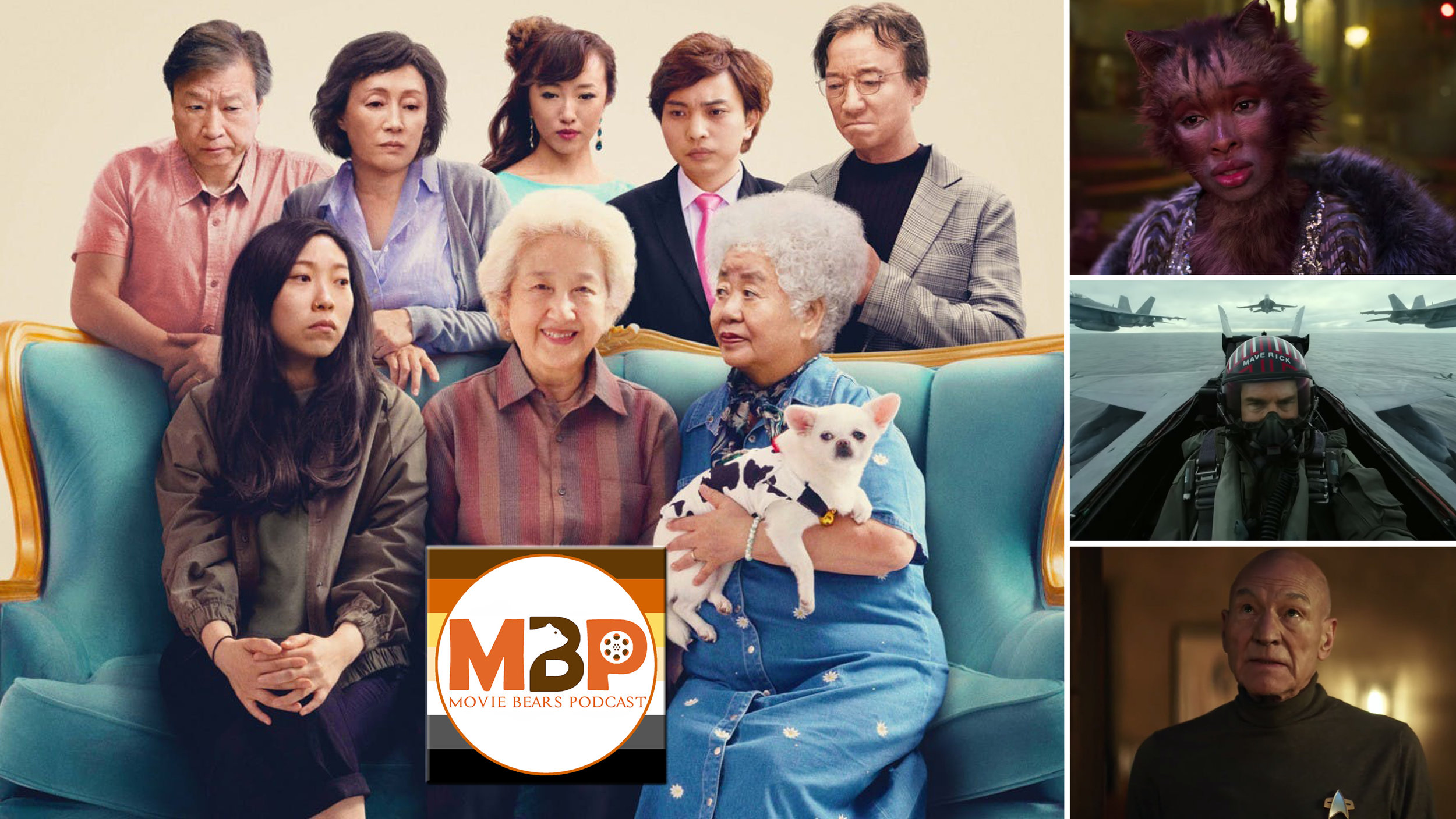 MBP e333 - 'The Farewell' and Trailer Round-Up (8/6/19)    On this episode we review THE FAREWELL, the new family 'dramedy' starring Awkwafina. We also take a peek at a few new trailers setting the internet abuzz, including TOP GUN: MAVERICK, CATS, and PICARD.