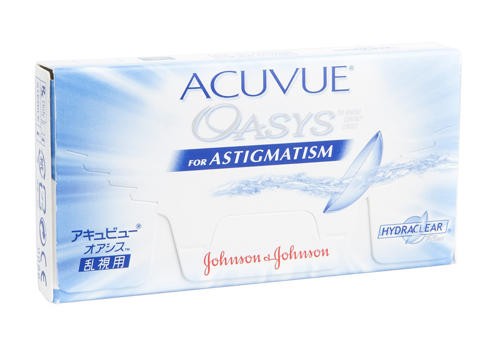 Johnson & Johnson Acuvue Oasys for Astigmatism   $50.00 per box
