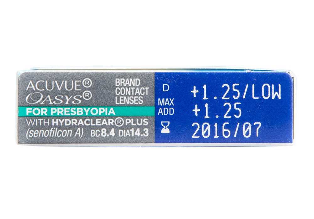 Acuvue Oasys for Presbyopia side