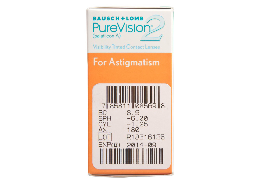 PureVision 2 for Astigmatism side