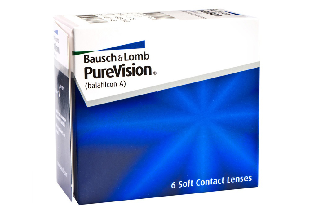 Bausch & Lomb PureVision   $63.00 per box