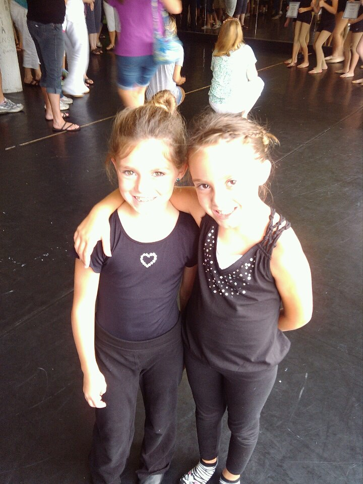 Hailee and Alexis at the Fuzion Dance Camp in Chicago.