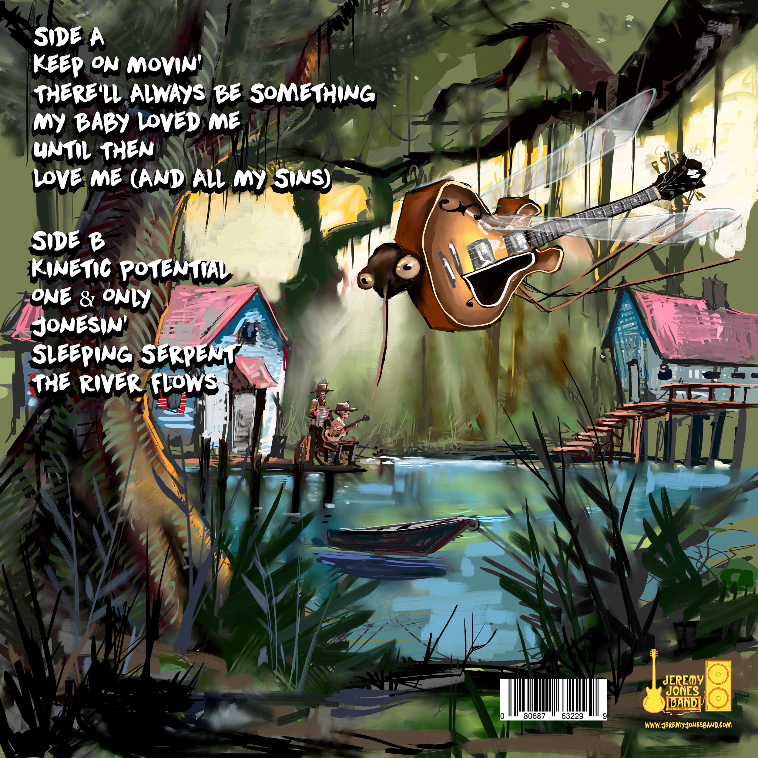 Jeremy Jones Band Album Back cover