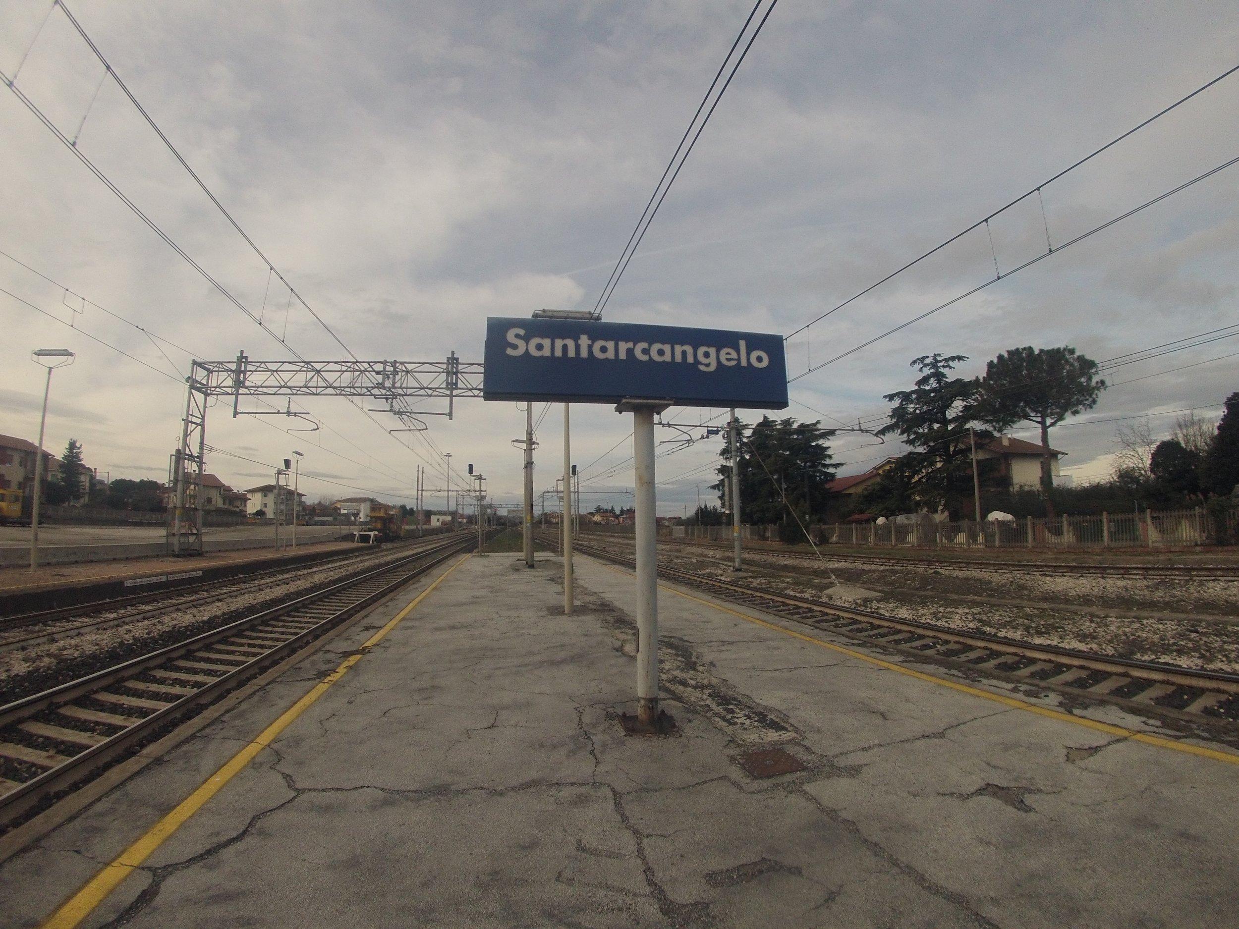 La partenza - 30 Gennaio 2015, Giorno #1Partenza dalla Stazione di Santarcangelo di Romagna alle ore 10.49