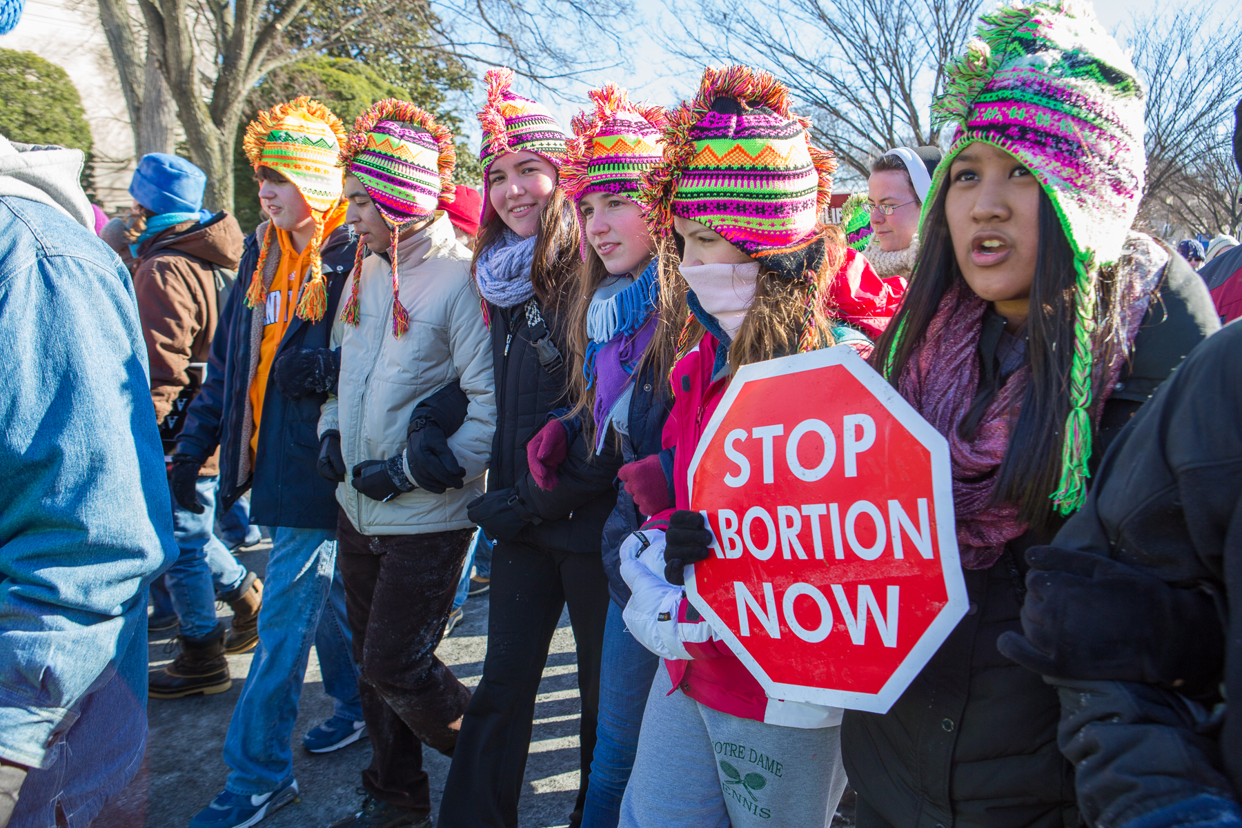 Youth from the Diocese of Knoxville participate in the 2014 March for Life.