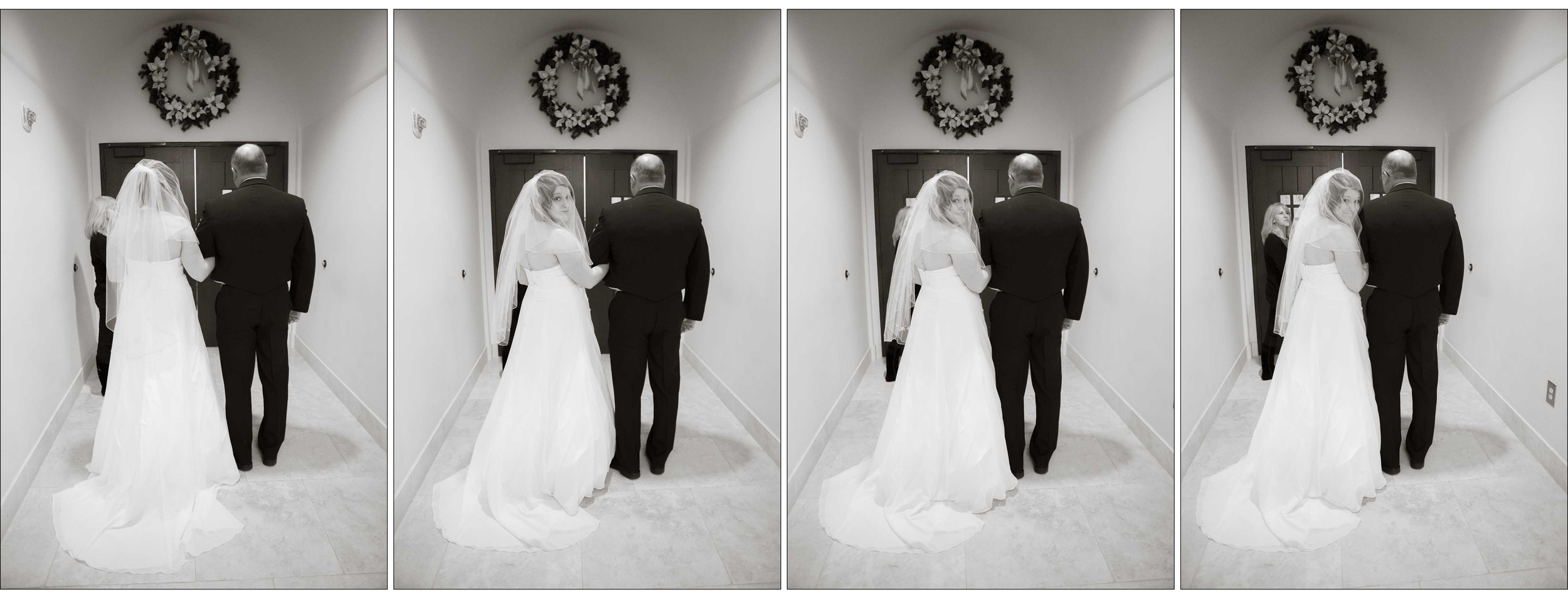 One last look back before heading down the aisle . . .