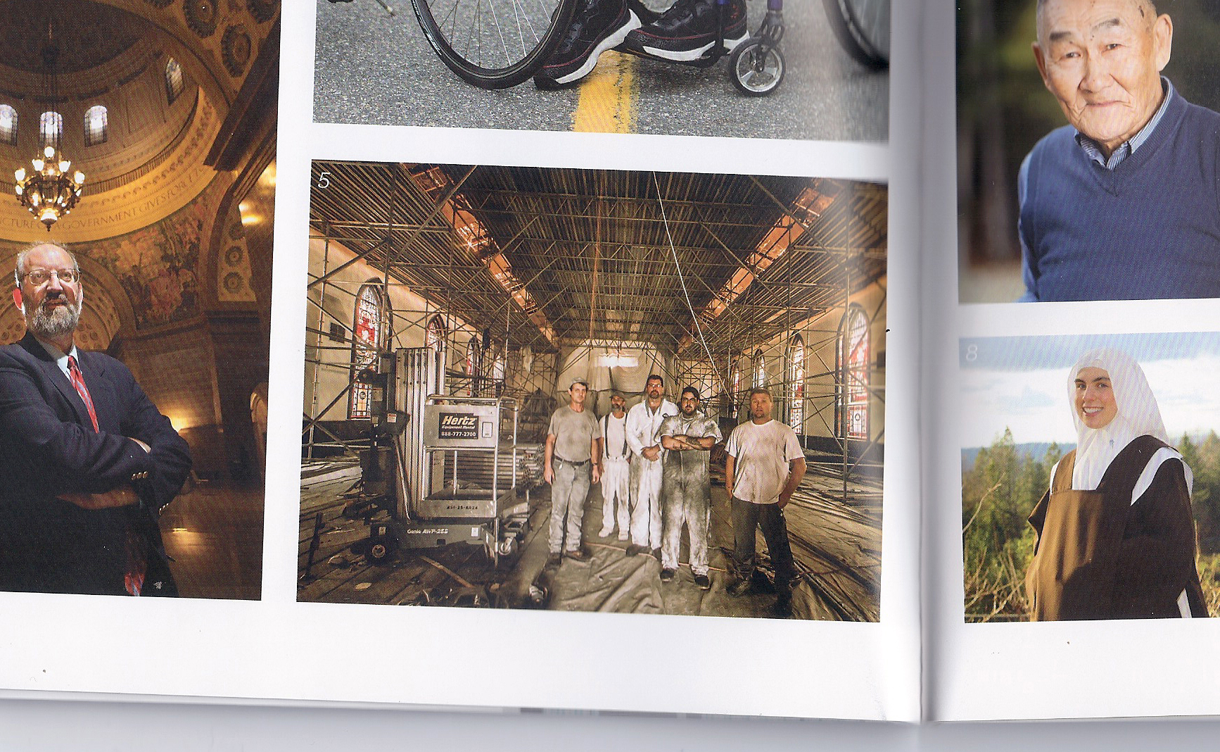 My image, middle bottom, in the magazine.