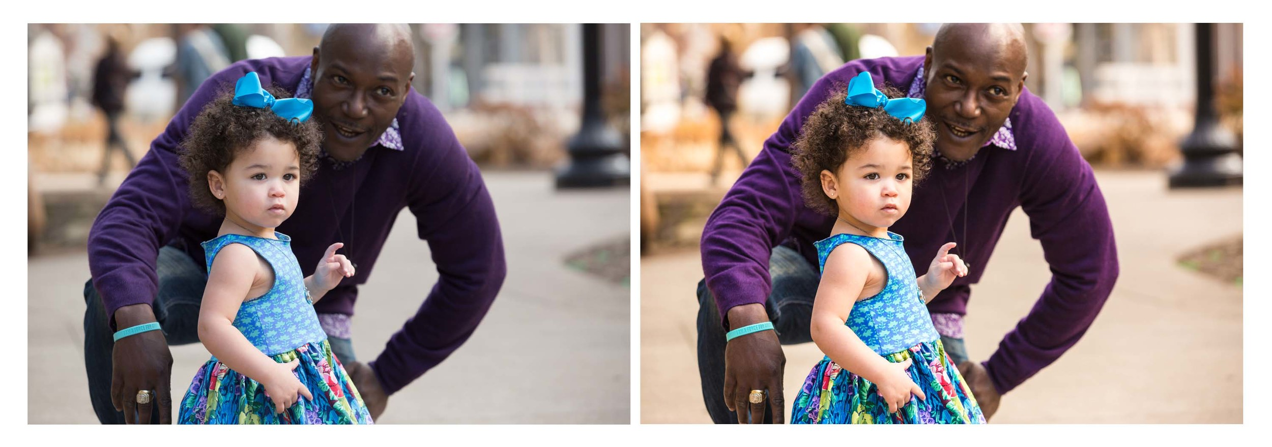 Which would you rather show your family and friends, unedited on the left or edited on the right?