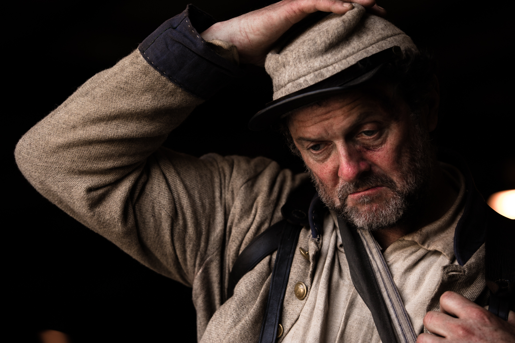 "Actor Boris McGiver, who has appeared in the film ""Lincoln"" and the series ""House of Cards,"" plays the older soldier, Talley."