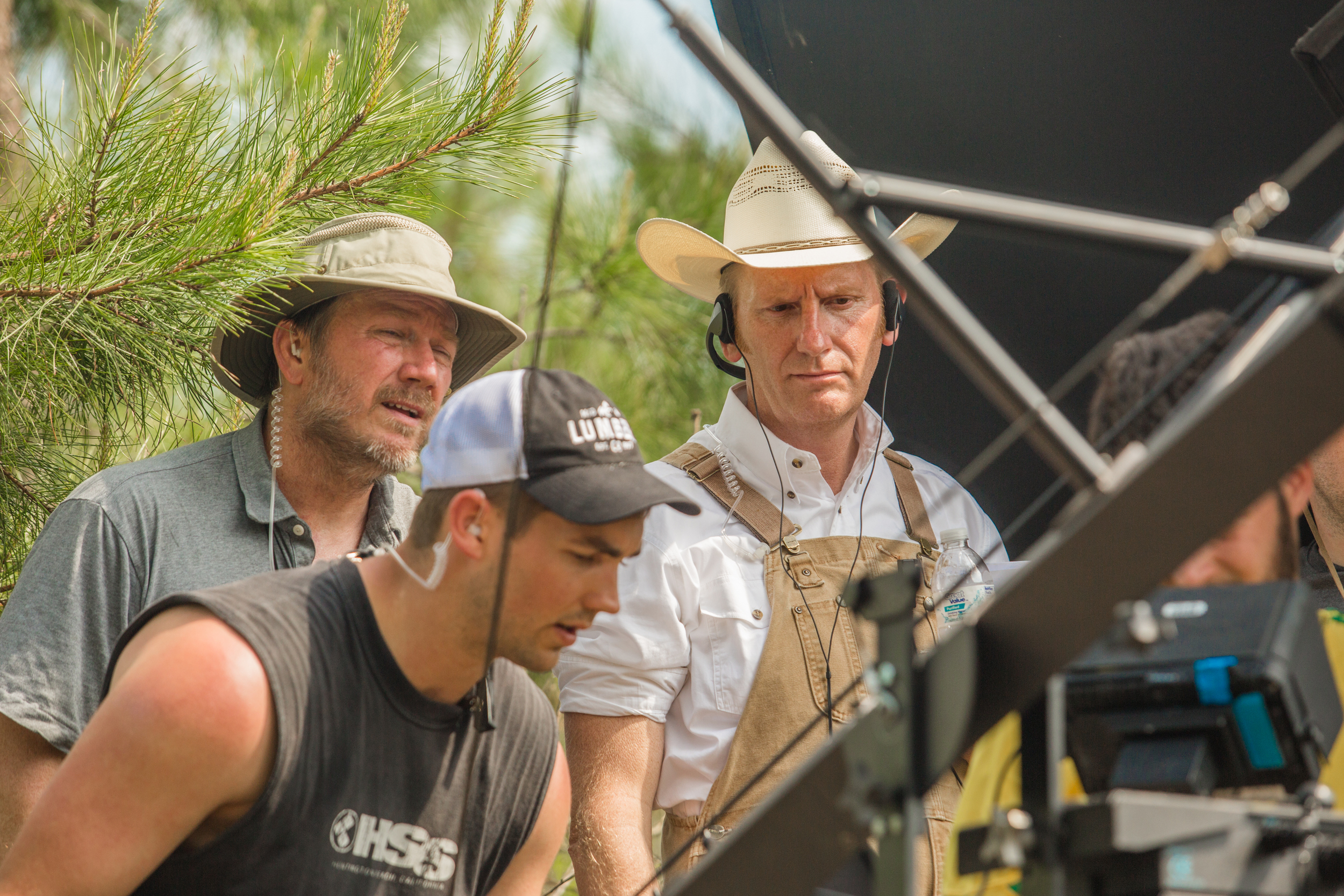 Bryan Allen (far left) and Rory Feek (far right) have worked together on the Joey+Rory music so expect to see that magic and talent seen in those to come to life on the big screen (and shout out to Nick whop can fly a jib like no other)!