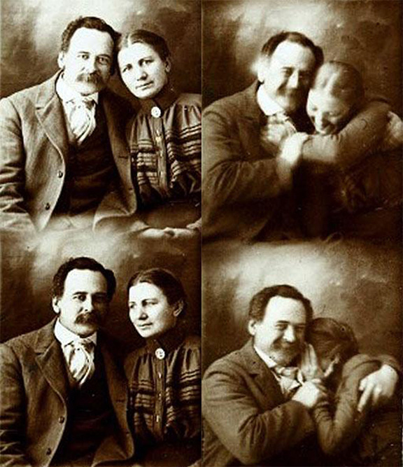 Look, once exposure times got short enough, even Victorians got silly in front of cameras.