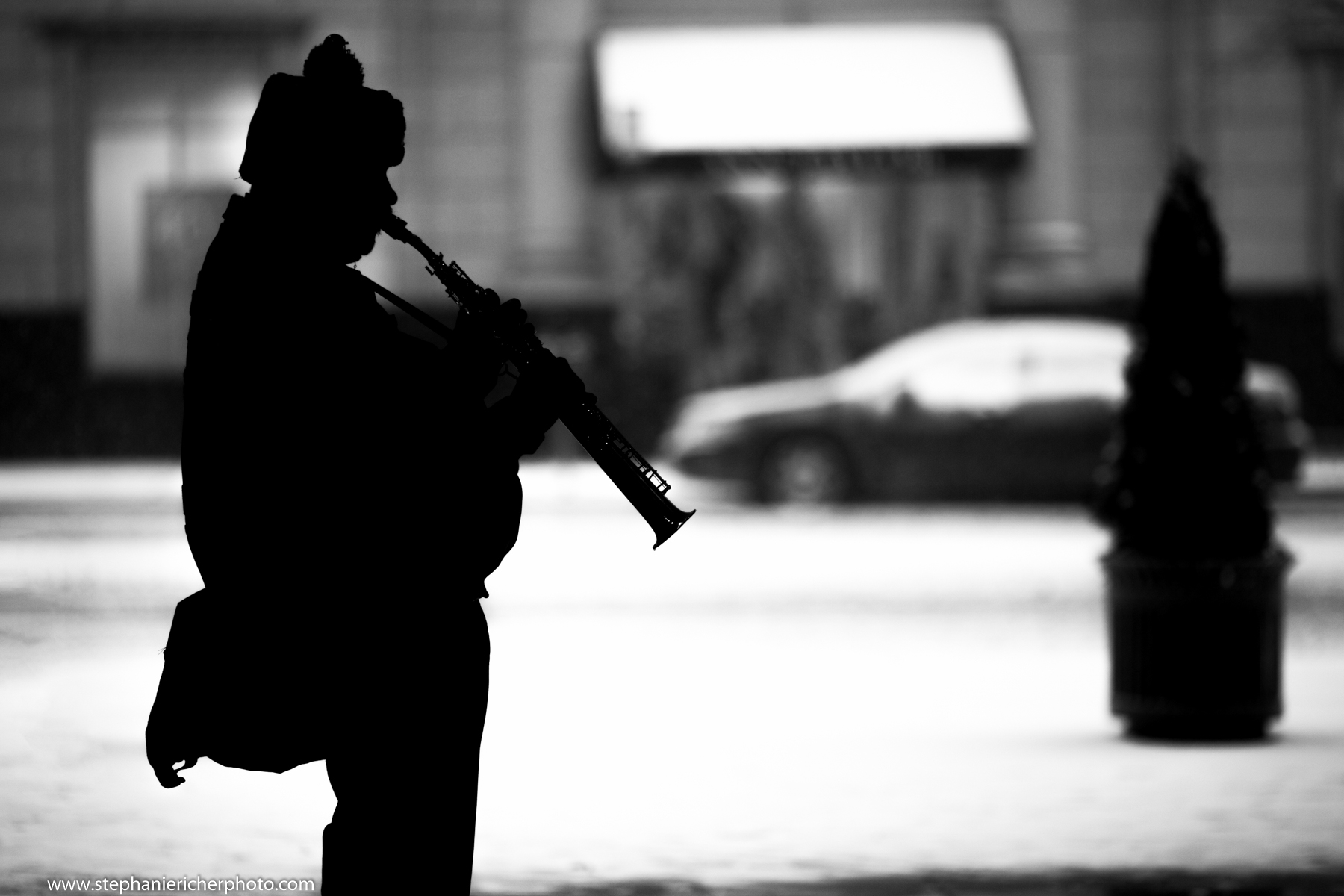 Street musician at the Metro Center station.