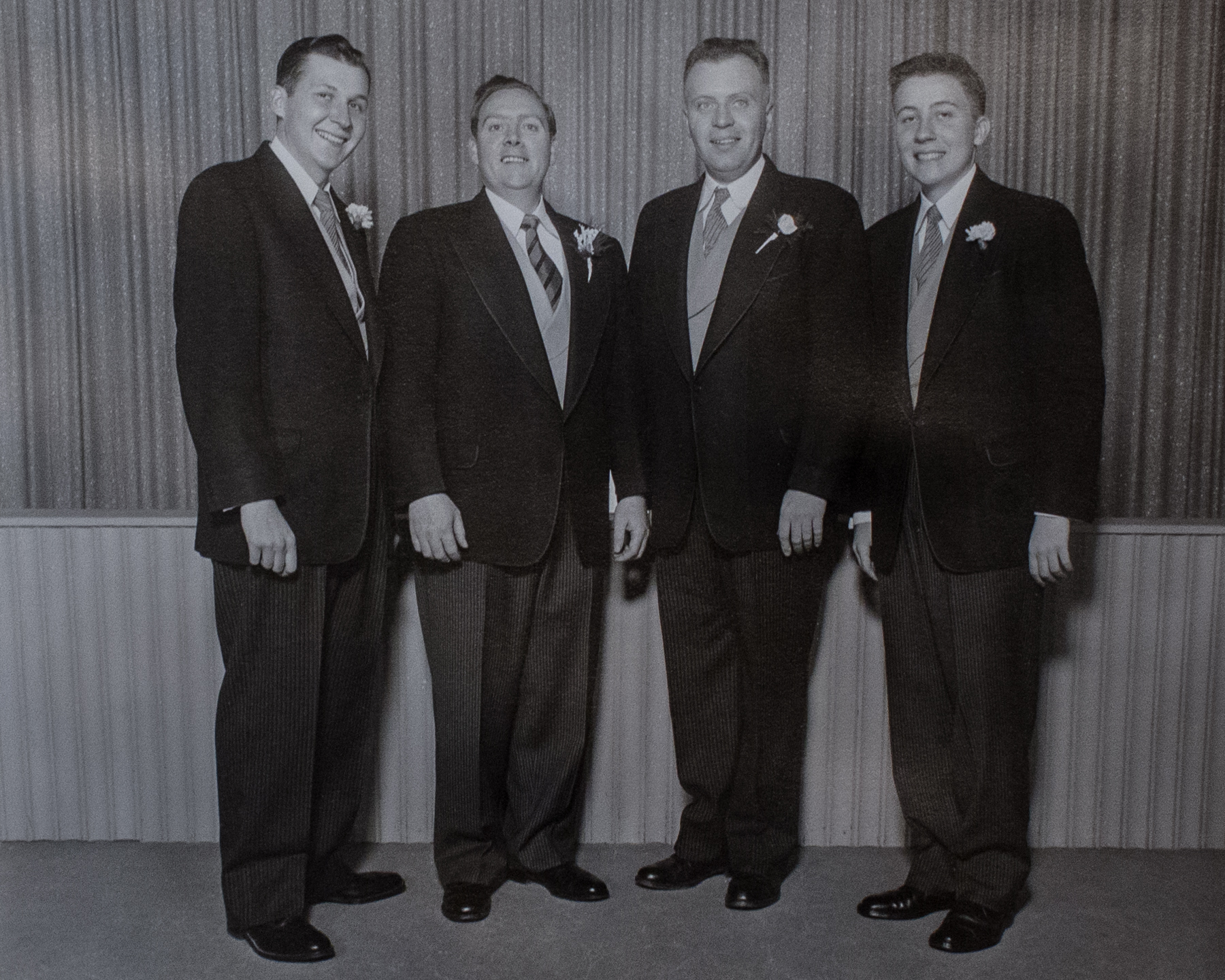Dad with his Best Man and new brothers-in-law.