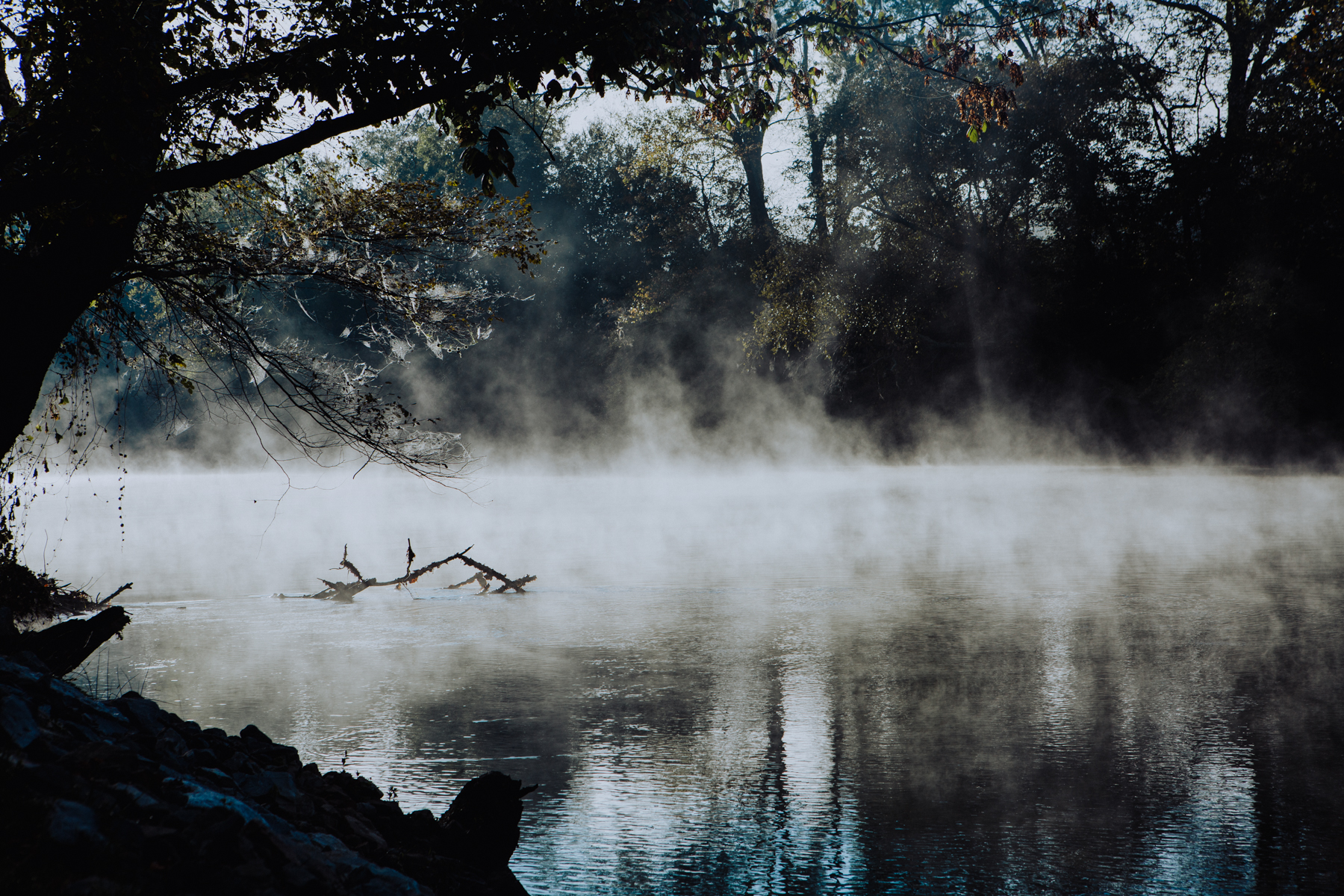Morning mist on the Hiwassee River